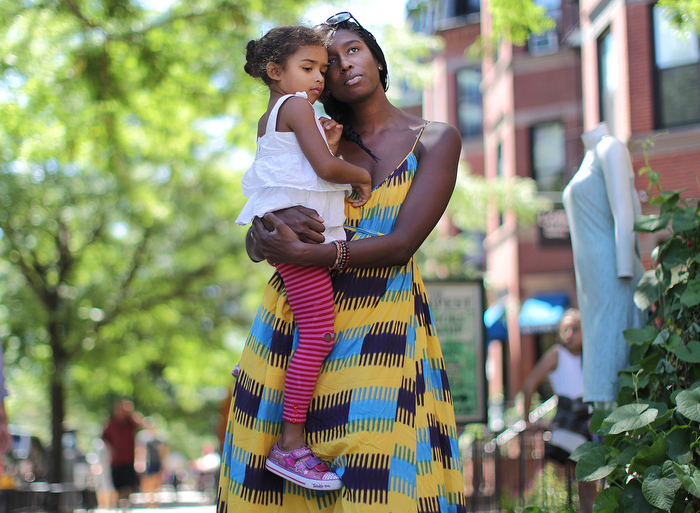 Boston, MA., 08/05/13, Kim and Jon Napoli, of Roxbury, were working at their Newbury Street store on the day of the Boston Marathon bombings. Their  their young daughters, Eva, 2, and Gianna, 3., were with their nanny and witnessed the bombs at the marathon one block away. The older child, Gianna, has since had nightmares and recoiled from any loud noises. She was robbed of her innocence that day, Napoli says of her elder daughter. She knows things can go wrong. She thinks a marathon is people running away. For a story on the ongoing psychological effects of the traumatic events in Boston.