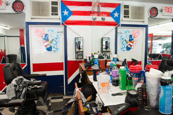Barbershop in East Boston, MA.
