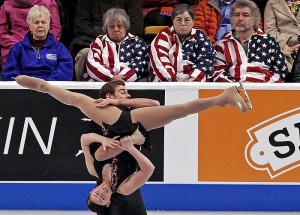 Haven Denney and Brandon Frazier perform during the 2014 Prudential U.S. Figure Skating Championships at the TD Garden