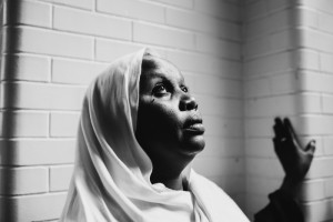 Fatumah Mohamed, 43, is a refugee from Darfur, Sudan, recently resettled in Utica, New York, USA.  She is seen here in a classroom at the Mohawk Valley Resource Center for Refugees where she is learning English and other skills useful for her new life in Utica. When asked what she would like to do for a job in her new life, she said she might start as a housekeeper but wanted to become a judge like Luis Gabriel Moreno Ocampo, the first Chief Prosecutor for the International Criminal Court. The Mohawk Valley Resource Center for Refugees is one of the largest resettlement agencies in the Lutheran Immigration and Refugee Service network, though it is a secular organizatnoi. The Center has assisted in the resettlement of refugees from 31 countries since it began in 1979.